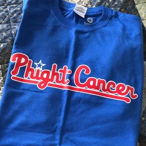 Phillies Phight Cancer Tee. Never worn! Size M